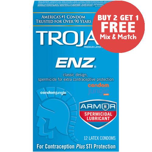 Trojan ENZ Spermicidal Condoms - Buy 2, Get 1 Free