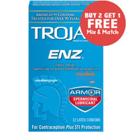 Trojan ENZ Spermicidal Condoms - Buy 2, Get 1 Free