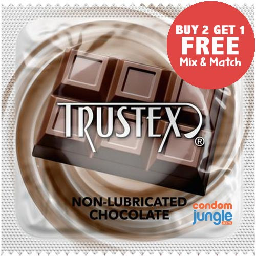 Trustex Chocolate Flavor Non-Lubricated Condoms - Buy 2, Get 1 Free (Mix & Match)