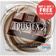 Trustex Chocolate Flavor Non-Lubricated Condoms.