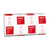 Katrin Interfold White Hand Towels 2Ply 35298 (Case 4000 Towels)