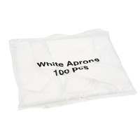 Disposable Aprons 100 Pack (Choose Colour)