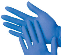 Vinyl Disposable Gloves Blue (Powder Free) 100 Box (Choose Size)