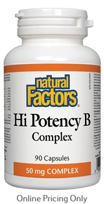 Natural Factors Hi Potency B Complex 50mg 90caps