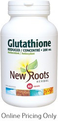 NEW ROOTS REDUCED GLUTATHIONE 200mg 60caps