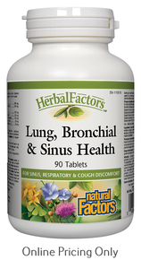 NATURAL FACTORS LUNG BRONCHIAL AND SINUS HEALTH 90tabs