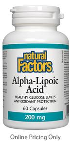 NATURAL FACTORS ALPHA LIPOIC ACID 200mg 60caps