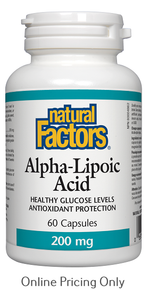 Natural Factors Alpha Lipoic Acid 200mg 60caps