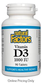 Natural Factors Vitamin D3 1000IU 90tabs