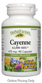 NATURAL FACTORS CAYENNE 42,000 SHU 470mg 90caps