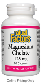 Natural Factors Magnesium Chelate 125mg 90caps