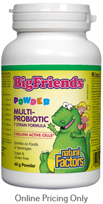 NATURAL FACTORS BIG FREINDS MULTI PROBIOTIC 60g
