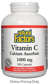Natural Factors Vitamin C Calcium Ascorbate 1000mg 180caps