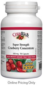 Natural Factors CranRich Organic Super Strength Cranberry Concentrate 500mg 90caps