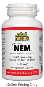 Natural Factors NEM 500mg 60vcaps
