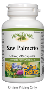Natural Factors Saw Palmetto Berries 500mg 90caps