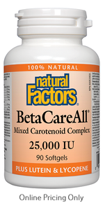 Natural Factors BetaCareAll 25,000IU 90sg