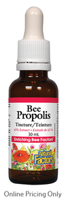 NATURAL FACTORS BEE PROPOLIS TINCTURE 65% EXTRACT 30ml