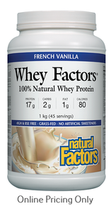 Natural Factors Whey Factors High Protein Formula French Vanilla 1kg