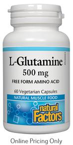 NATURAL FACTORS L-GLUTAMINE 500mg 60caps