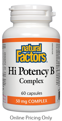 Natural Factors Hi Potency B Complex 50mg 60caps