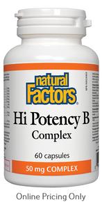 Natural Factors Hi Potency B Complex 50mg 60caps