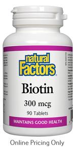 Natural Factors Biotin 300mcg 90tabs