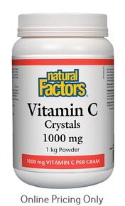 Natural Factors Vitamin C Crystals 1kg