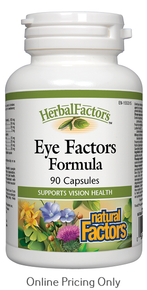 NATURAL FACTORS EYE FACTORS FORMULA 90caps