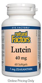 NATURAL FACTORS LUTEIN 40mg 60sg