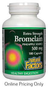 Natural Factors Bromelain 500mg 180caps