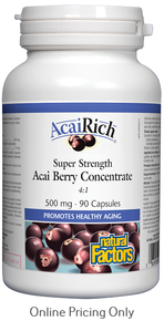 Natural Factors Acai Rich Super Strength Acai Berry Concentrate 500mg 90caps