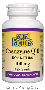 Natural Factors CoEnzyme Q10 100mg 120sg