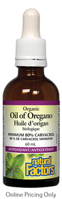 Natural Factors Organic Oil of Oregano 60ml