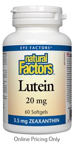 Natural Factors Lutein 20mg 60sg