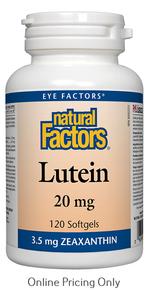 Natural Factors Lutein 20mg 120sg