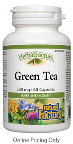Natural Factors Green Tea 300mg 60caps
