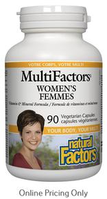 NATURAL FACTORS MULTIFACTORS WOMENS 90vcaps