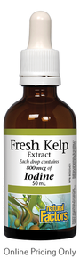 Natural Factors Fresh Kelp Extract 800mcg of Iodine 50ml