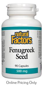 Natural Factors Fenugreek Seed 500mg 90caps