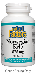 Natural Factors Norwegian Kelp 575mg 180tabs
