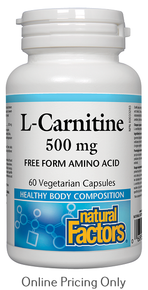 Natural Factors L-Carnitine 500mg 60vcaps
