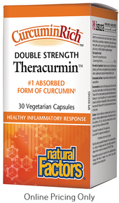 Natural Factors Curcumin Rich Double Strength Theracurmin 60mg 30vcaps