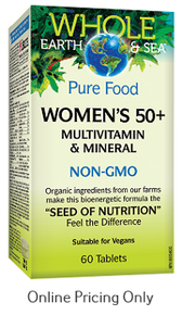 Natural Factors Whole Earth and Sea Women's Multi 50+ 60tabs
