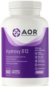 AOR Hydroxy B-12 1000mcg 60loz