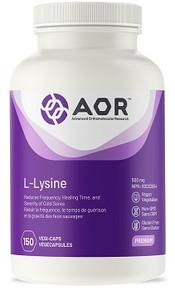 AOR L-Lysine 500mg 150caps