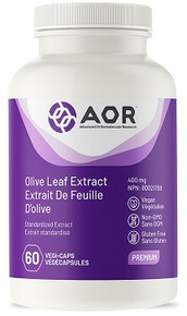 AOR OLIVE LEAF EXTRACT 400mg 60caps