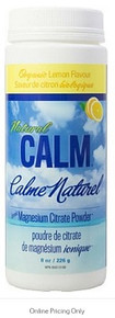 Natural Calm Magnesium Citrate Lemon 226g