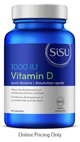 Sisu Vitamin D 1000IU 400tabs