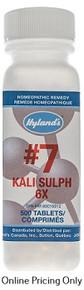 Hylands #7 Kali Sulph 6X 500tabs